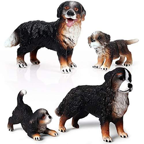 Kolobok - Farm Animals Action Figures - Bernese Moutain Dog - Zoo Pets Educational Toys - 4 pcs Set