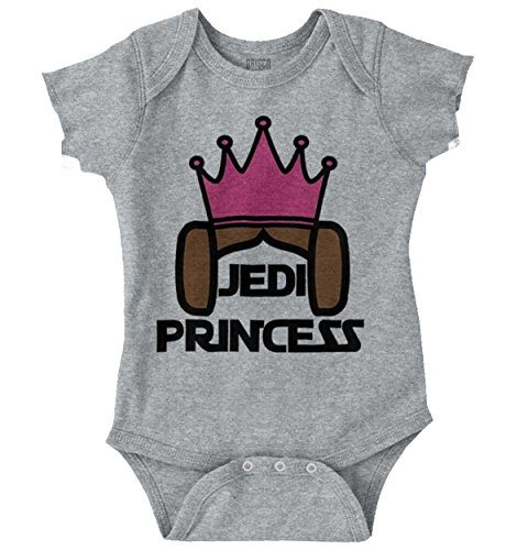 Brisco Brands Princess Nerdy Geeky Science Fiction Movie Romper Bodysuit ()