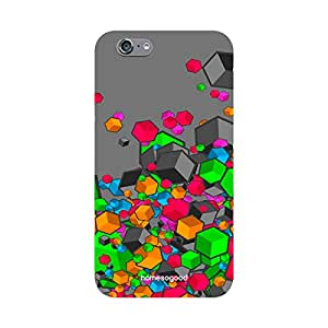 HomeSoGood Colorful Jumping Cubes Grey 3D Mobile Case For iPhone 6 (Back Cover)
