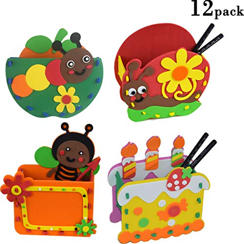 3D Craft Kits Party Favor for Kids Goodie Bags 12 PACK (Pen Holder) (Return Gift For Birthday Party)