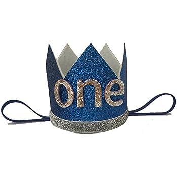 Amazon.com  Lujuny Knit 1st Birthday Hat - Happy Baby Crown Headband ... 636efcdba7a1