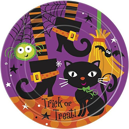 Spooky Boots (Spooky Boots Halloween Dinner Plates, 8ct)
