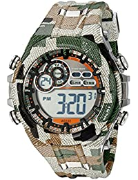 Men's 40/8188MIL Digital Chronograph Camouflage Patterned Resin Strap Watch