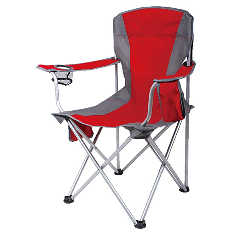 Outdoor Camp Folding Chairs Lightweight Portable Compact Chair with Armrest for Festival, Beach, Hiking-red by BSDBDF