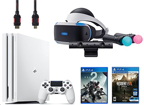 PlayStation VR Start Bundle 5 Items: VR Start Bundle,PS 4 Pro 1TB Console - Destiny Bundle,VR game disc Resident Evil 7: Biohazard by Sony VR