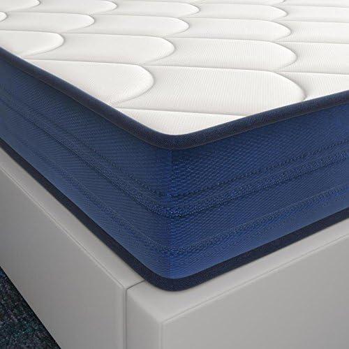 El Almacen del Colchon - Colchón viscoelástico Modelo Memory, 80 x 180 x 18cm - Todas Las Medidas, Blanco y Azul