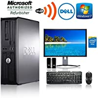 "Dell Optiplex - Intel Core 2 Duo 3.1GHz - 1TB HDD - 8GB RAM - Windows 7 Professional 64-bit - WiFi - DVD-ROM + NEW 24"" Monitor(Brands may vary)-(Certified Reconditioned)"