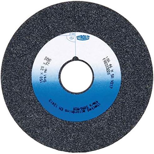 Tyrolit 147626 Schleifbockscheibe Normalkorund Form 1 gerade, Korn 60, 125 mm x 20 mm x 32 mm