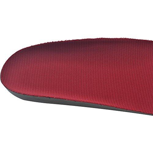Suave Flexible Transpirable Cuttable Anti-olor Unisex PU Plantillas con Paño Absorbente de Sudor y la Amortiguación de Silicona para Máxima Comodidad