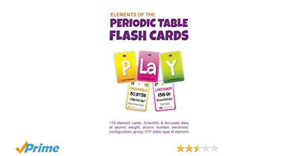 elements of periodic table flash cards apurva chitte 9781539447726 amazoncom books