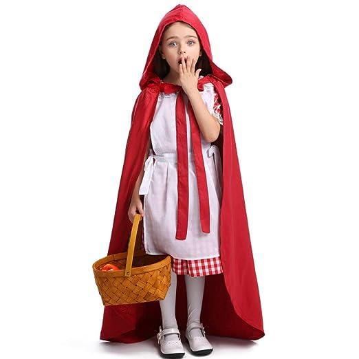 ZLHZYP Disfraz Halloween Niños Niña Caperucita Roja Carnaval ...