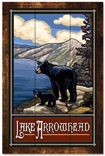 Lake Arrowhead Rustic Wood Art Print by Paul A. Lanquist (24