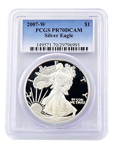 2007 W American Eagle Dollar PCGS PR-70