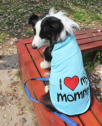 338838b910f5 Veena 2XL 9XL Quot I Love My Mommyquot Big Dog Clothes Summer for Large Dog  Golden Retriever Samoyed Big Dog Adidogs Vest Clothes Pink 3XL: Amazon.in:  Pet ...