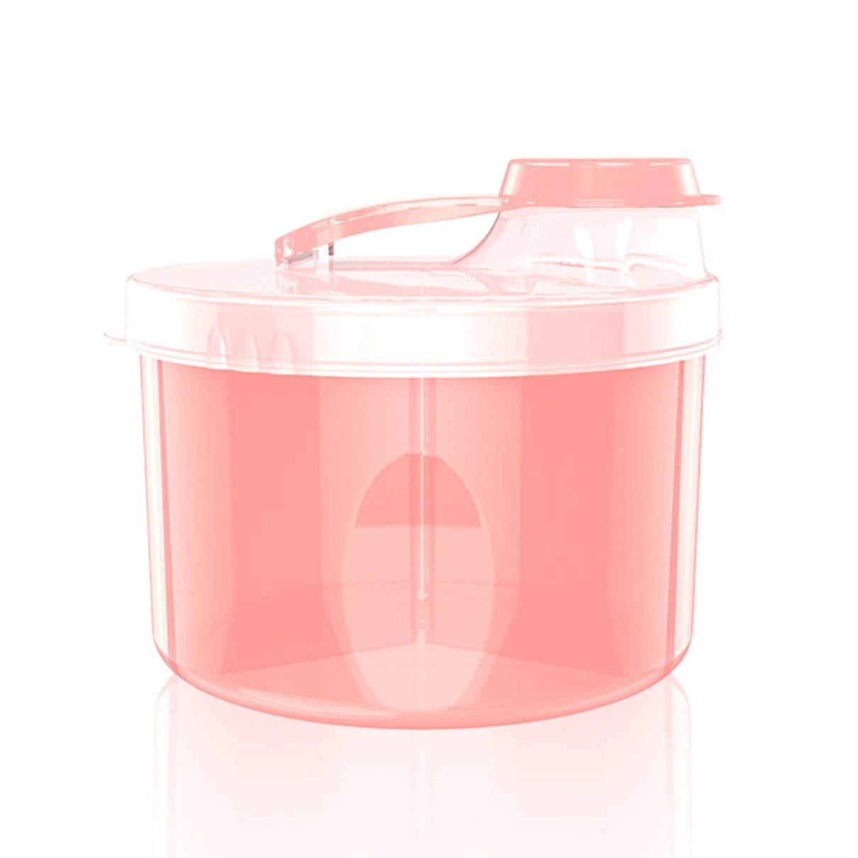 Azul Togames Beb/é port/átil Ni/ños Contenedores de comida Almacenamiento Caja de alimentaci/ón Dispensador de f/órmula de leche en polvo