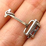 Antique Sterling Silver Retro Reel Lawn Mower Charm Pendant Jewelry Making Supply by Wholesale Charms