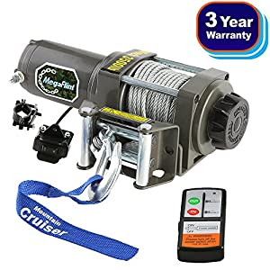 MegaFlint 3500LB ATV Winch UTV 12V Electric 3500 LB/1591kg Off Road Kit A Recovery Winch Truck SUV Wireless Remote Controller