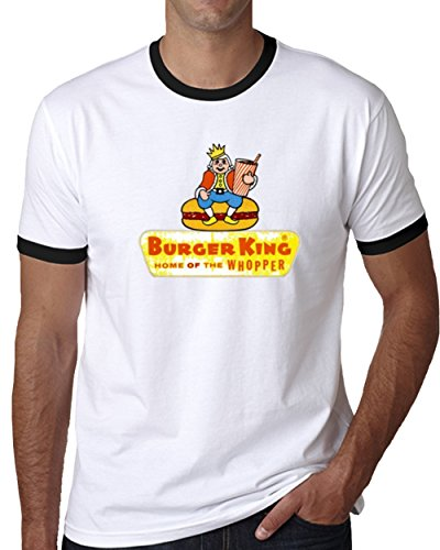 Burger King 1957 Whopper Fast Food Chain Retro Vintage T Shirt 2XL Black Ringer