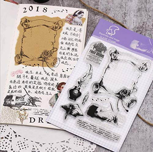 Layhome Newest Clear Stamp Silicone Stamp Scrapbooking Stamping (Learning) by Layhome (Image #2)