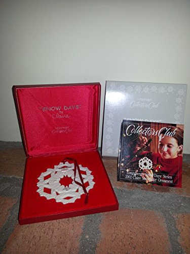 (Longaberger Collector's Club Snow Days Series ~ 2002 Claire Snowflake Ornament)