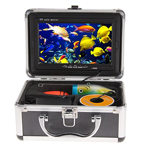Amarine-made 7Inch Professional Fish Finder Underwater 30M Video Camera Color HD 1000 TV Monitor 12DVC