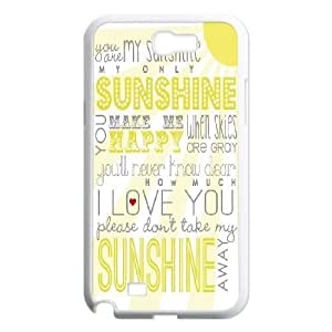 You Are My Sunshine Unique Design Case for Samsung Galaxy Note 2 N7100, New Fashion You Are My Sunshine Case