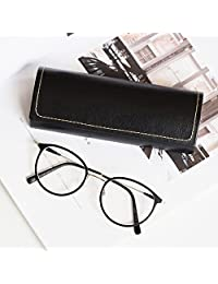 Gosear Portable PU Leather Magnetic Closure Hard Eyeglasses Glasses Sunglasses Case Protector Holder Box Cover Anti-shock with Soft Lining Black