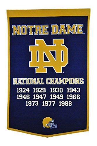 Winning Streak NCAA Notre Dame Fighting Irish Dynasty Banner