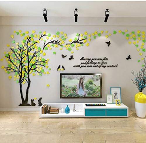 Leaf Three-dimensional Mirror Wall Sticker Mural Decals 3D Art Acrylic