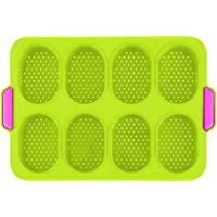 BSTOB Mini Baguette Baking Tray, Silicone Non-Stick Perforated Pan Bread Crisping Tray, Loaf Baking Mould for Cakes…