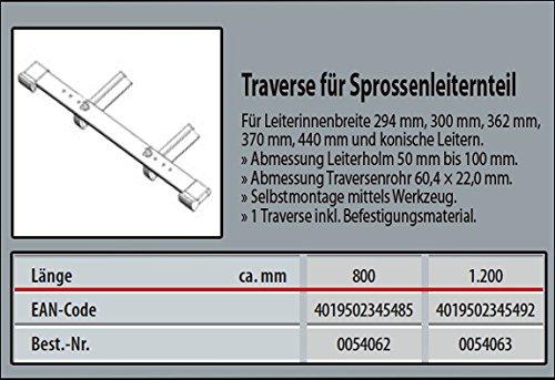 Leiternholm 50-100 mm HYMER 0054062 Traverse f/ür Leiterteil