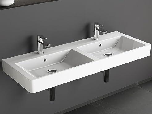 Aqua Bagno Design Keramik Doppel Waschbecken 120 Cm