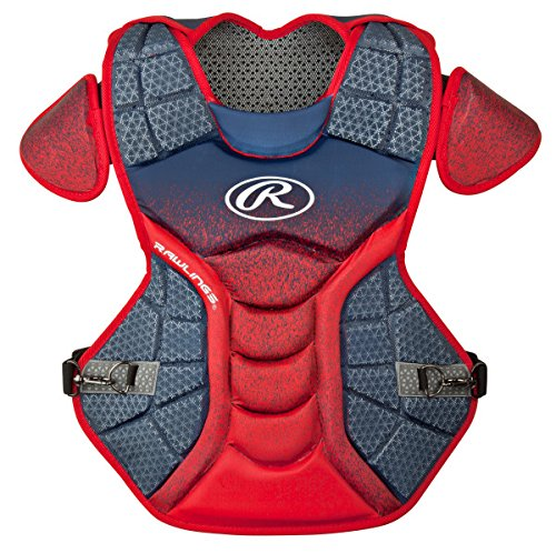 Rawlings Sporting Goods Catchers Velo Series Intermediate Chest Protector, 15.5'', Navy/Scarlet by Rawlings