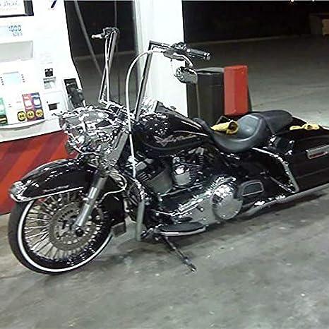 BBUT 12 14 16 Rise 1 1//4 APE Hanger Handlebar For 1996-2018 Harley Dyna Softail Sportster FL 1983-2014 Touring Road King Road Glide Street Glide Electra Glide FLHR FLHX FLHT FHTR 16 Black