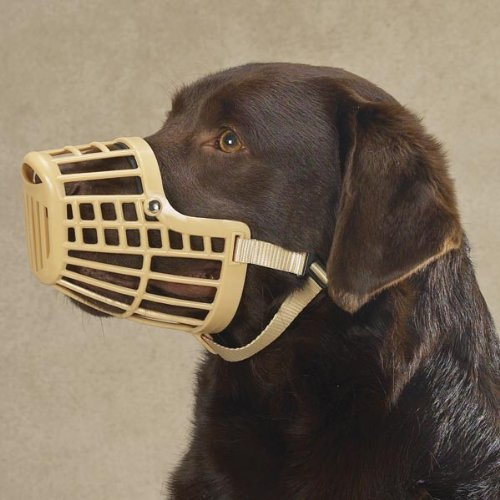 Guardian Gear Plastic Dog Basket Muzzle, Medium, Beige