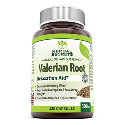 Herbal Secrets Valerian Root 500 mg 120 Capsules - Promotes Relaxation, Supports Calm Tranquil Sleep