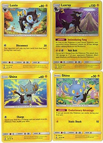 Pokemon - Evolution Set - Luxray Luxio Shinx- Sun Moon Ultra Prism 48/156 holo rare card lot