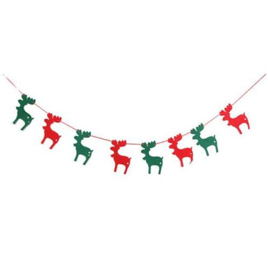 UNKE Merry Christmas Flag Garland Banner Sign Bunting Xmas party Decor Decorations