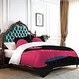 Yunshm Cartoon Red Massospondylus Bedding 3 Piece Comforter Cover Sheet Set Duvet Cover Sets Twin Size with 2 Pillowcase Soft Microfiber Personalized