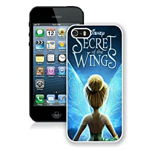 Case For iPhone 5 5S,Tinker Bell White iPhone 5 5S Case Cover