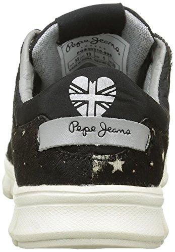 Pepe Jeans London Mädchen Coven Pony Low-Top Noir (999Black)