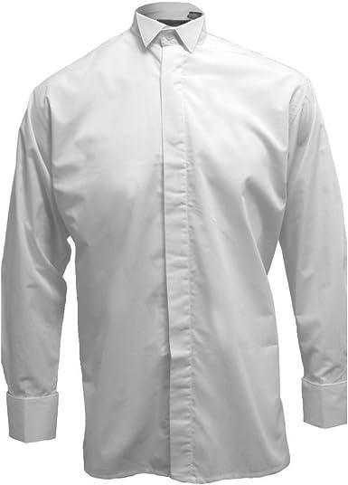 Tartanista Broadsword - Camisa para Hombre con Cuello Esmoquin - Blanco - 40/41 cm: Amazon.es: Ropa y accesorios