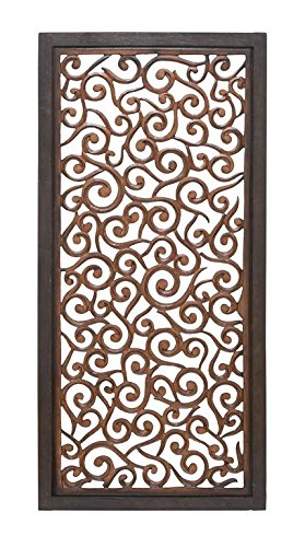 Deco 79 34092 Scroll Work Wood Wall Panel, 51