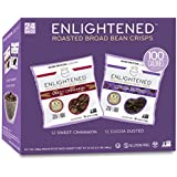 Enlightened Plant Protein Gluten Free Roasted Broad Fava Bean Snack, Sweet Variety Pack, 24 Count