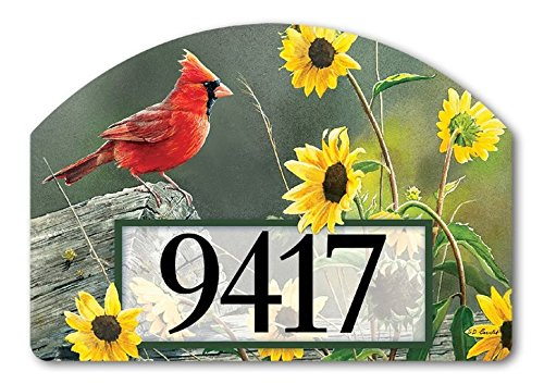 Yard Designs Address Magnet - Cardinal View Yard DeSign Address Sign - 14