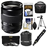 Fujifilm 18-135mm f/3.5-5.6 XF R LM OIS WR Zoom Lens with Case + Tripod + 3 Filters + Kit for X-A2, X-E2, X-E2s, X-M1, X-T1, X-T10, X-Pro2 Cameras