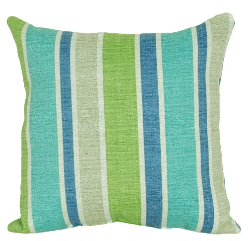 Codson Park Square Sacramento Pool Stripe Outdoor Pillow with Knife Edge Finish, 16-Inch