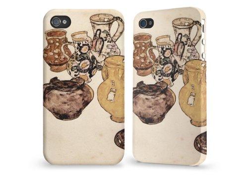 """Hülle / Case / Cover für iPhone 4 und 4s - """"Krüge"""" by Egon Schiele"""