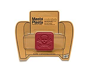 Red MastaPlasta Self-Adhesive Leather Repair Patches. Choose size/design. First-aid for sofas, car seats, handbags, jackets etc (RED PIRATE 5cmx5cm)