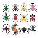 HEALIFTY 12本の子供のモデルの昆虫のおもちゃパーティーのおもしろ動物玩具リアリティ昆虫の数字